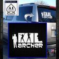 Archer Decal Sticker Title Spy FX White Vinyl Emblem 120x120