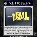 Archer Decal Sticker Title Spy FX Yellow Vinyl 120x120