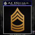 Army Master Sergeant Decal Sticker CS Metallic Gold Vinyl 120x120