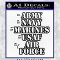 Army Navy Marine ASAF Decal Sticker Offer Black Vinyl Logo Emblem 120x120