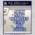 Army Navy Marine ASAF Decal Sticker Offer Blue Vinyl 120x120