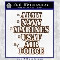 Army Navy Marine ASAF Decal Sticker Offer Brown Vinyl 120x120