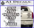 Army Navy Marine ASAF Decal Sticker Offer Carbon Fiber Black 120x97