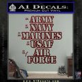 Army Navy Marine ASAF Decal Sticker Offer Dark Red Vinyl 120x120