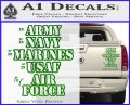 Army Navy Marine ASAF Decal Sticker Offer Green Vinyl 120x97