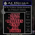 Army Navy Marine ASAF Decal Sticker Offer Pink Vinyl Emblem 120x120