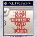 Army Navy Marine ASAF Decal Sticker Offer Red Vinyl 120x120