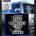 Army Navy Marine ASAF Decal Sticker Offer White Vinyl Emblem 120x120