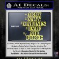 Army Navy Marine ASAF Decal Sticker Offer Yellow Vinyl 120x120