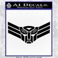 Autobot Elite Guard Decal Sticker Transformers Black Vinyl Logo Emblem 120x120