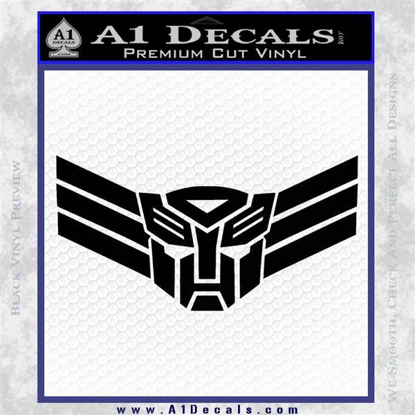 Autobot Elite Guard Decal Sticker Transformers Black Vinyl Logo Emblem