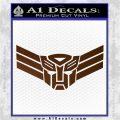 Autobot Elite Guard Decal Sticker Transformers Brown Vinyl 120x120