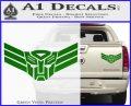 Autobot Elite Guard Decal Sticker Transformers Green Vinyl 120x97