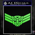 Autobot Elite Guard Decal Sticker Transformers Lime Green Vinyl 120x120