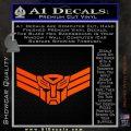 Autobot Elite Guard Decal Sticker Transformers Orange Vinyl Emblem 120x120