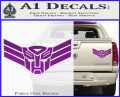 Autobot Elite Guard Decal Sticker Transformers Purple Vinyl 120x97