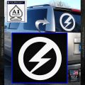 BUF Lightning Bolt Fascist Decal Sticker White Vinyl Emblem 120x120