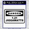 Back To The Future Jigga Watts Decal Sticker D2 Black Vinyl Logo Emblem 120x120
