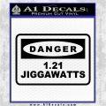 Back To The Future Jigga Watts Decal Sticker D2 Black Vinyl Logo Emblem 120x120