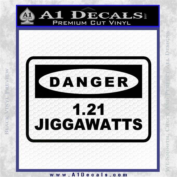 Back To The Future Jigga Watts Decal Sticker D2 Black Vinyl Logo Emblem