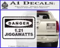 Back To The Future Jigga Watts Decal Sticker D2 Carbon Fiber Black 120x97