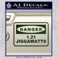 Back To The Future Jigga Watts Decal Sticker D2 Dark Green Vinyl 120x120