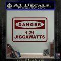 Back To The Future Jigga Watts Decal Sticker D2 Dark Red Vinyl 120x120