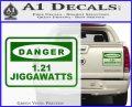 Back To The Future Jigga Watts Decal Sticker D2 Green Vinyl 120x97