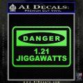 Back To The Future Jigga Watts Decal Sticker D2 Lime Green Vinyl 120x120