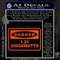 Back To The Future Jigga Watts Decal Sticker D2 Orange Vinyl Emblem 120x120