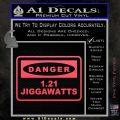 Back To The Future Jigga Watts Decal Sticker D2 Pink Vinyl Emblem 120x120