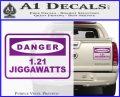 Back To The Future Jigga Watts Decal Sticker D2 Purple Vinyl 120x97