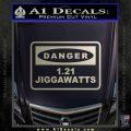 Back To The Future Jigga Watts Decal Sticker D2 Silver Vinyl 120x120