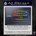 Back To The Future Jigga Watts Decal Sticker D2 Sparkle Glitter Vinyl Sparkle Glitter 120x120
