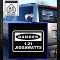 Back To The Future Jigga Watts Decal Sticker D2 White Vinyl Emblem 120x120