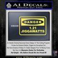 Back To The Future Jigga Watts Decal Sticker D2 Yellow Vinyl 120x120
