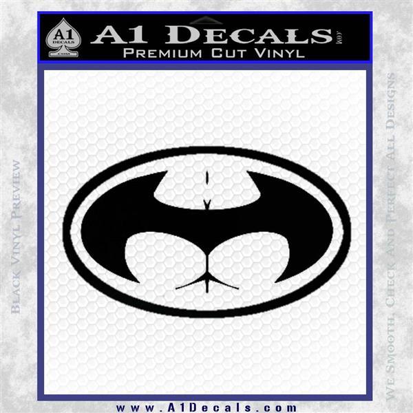 Badman Buttman Decal Sticker Black Vinyl Logo Emblem