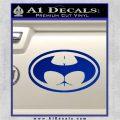 Badman Buttman Decal Sticker Blue Vinyl 120x120