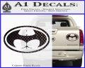 Badman Buttman Decal Sticker Carbon Fiber Black 120x97