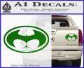 Badman Buttman Decal Sticker Green Vinyl 120x97