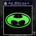 Badman Buttman Decal Sticker Lime Green Vinyl 120x120