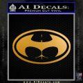 Badman Buttman Decal Sticker Metallic Gold Vinyl 120x120