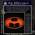 Badman Buttman Decal Sticker Orange Vinyl Emblem 120x120