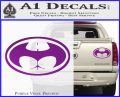Badman Buttman Decal Sticker Purple Vinyl 120x97