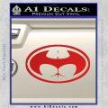 Badman Buttman Decal Sticker Red Vinyl 120x120