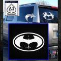Badman Buttman Decal Sticker White Vinyl Emblem 120x120