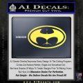 Badman Buttman Decal Sticker Yellow Vinyl 120x120
