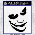 Badman Villain DJ Why So Serious Decal Sticker Black Vinyl Logo Emblem 120x120