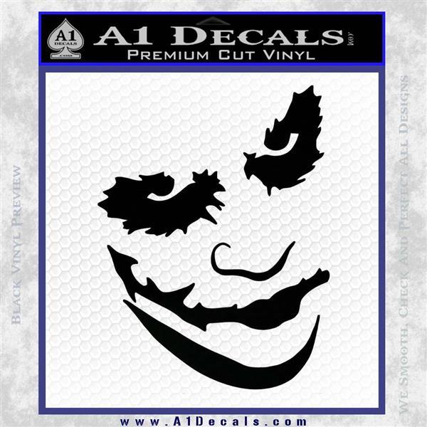 Badman Villain DJ Why So Serious Decal Sticker Black Vinyl Logo Emblem