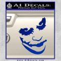 Badman Villain DJ Why So Serious Decal Sticker Blue Vinyl 120x120